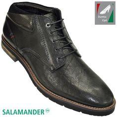 Salamander férfi bőr bokacipő 31-58904-01 fekete