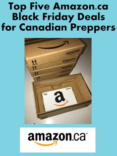 5 Amazon.ca Black Friday Deals for Preppers - Shop at Home & Save My Score, Black Friday Deals, Money Saving Tips, Survival, Amazon, Shopping, Tips For Saving Money, Riding Habit, Amazon River
