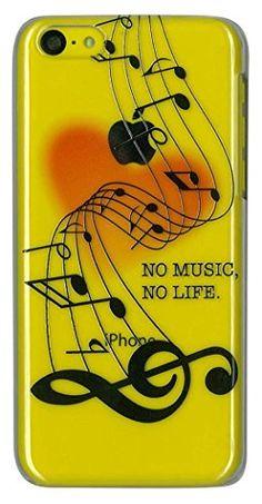 【 iPhone5c ケース カバー 】音符 「NO MUSIC NO LIFE」 音楽 楽器 ハート Kawaii♥ ポリカーボネート製 クリア ハードケース MRLab http://www.amazon.co.jp/dp/B00L4XC6EA/ref=cm_sw_r_pi_dp_y7rRtb0YFC3JX70T