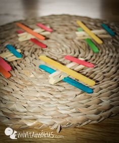 Lovely aeroplanes made of clothespins and sticks - Letter of the Week {A} Fun Crafts For Kids, Cute Crafts, Kid Crafts, Arts And Crafts, Eyfs Activities, Activities For Kids, Stick Letters, Letter Of The Week, Clothespins