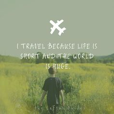 The world is filled with adventures that are just waiting for us. #HappyMonday