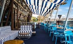 Café del Mar Sydney Rooftop Terrace of Cockle Bay Wharf, 201 Sussex Street, Sydney Sydney Restaurants, Outdoor Restaurant, Restaurant Bar, South Wales, Outdoor Chairs, Outdoor Furniture Sets, Outdoor Decor, Outdoor Living, Bali