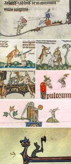 Violent Rabbit Illustrations Found in the Margins of Medieval Manuscripts