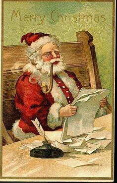 vintage santa wallpaper 1 vintage - Vintage Christmas Wallpaper