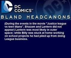 """"""" (During the events in the movie """"Justice league vs teen titans"""", Shazam and…"""