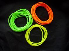 Neon jelly bracelets!
