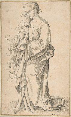 St. Barbara with a Chalice and Host  In the manner of Hans Baldung (called Hans Baldung Grien)  (German, Schwäbisch Gmünd (?) 1484/85–1545 Strassburg, 1513