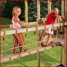 Blue Rabbit Bridge Module - Wooden Climbing Frames for Kids
