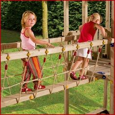 Blue Rabbit Bridge Module - Wooden Climbing Frames for Kids
