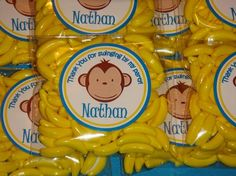 Personalized 10 Mod Monkey Party Favor  2OZ of by PamperYourParty, $20.00
