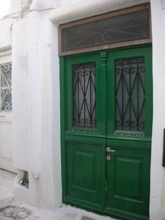 the green doors  greece greek design