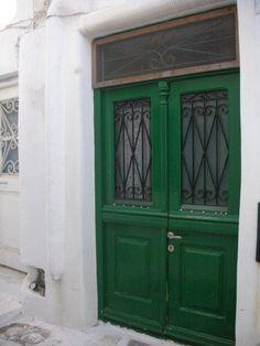 the green doors  greece greek design
