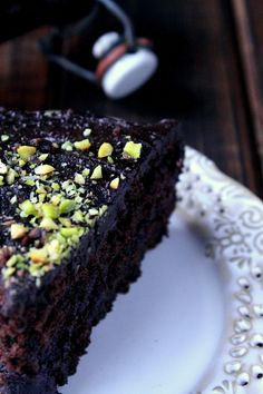 rustic kitchen: chocolate cake