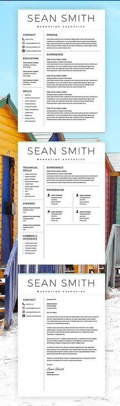 Creative cv template in Word and PowerPoint, fully editable - Word Resume Template Mac