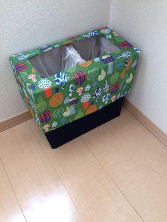 インテリア:ペーパーナプキンとダンボールでゴミ箱✳︎