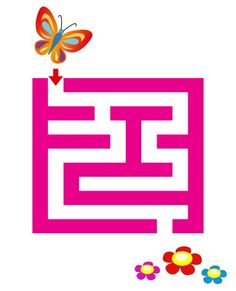 Printable Spring Butterfly Maze - a very easy maze to introduce your ...