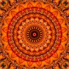Christine Bässler - Mandala Blume orange1