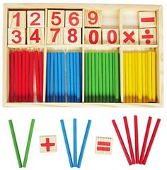 Generic Wooden Number Cards and Montessori Counting Rods with Box *** Read more reviews of the product by visiting the link on the image.Note:It is affiliate link to Amazon.