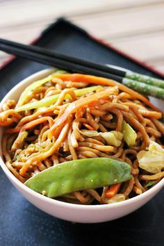 This Veggie Lo Mein is a quick, easy, and a healthy version of the Chinese takeout favorite.