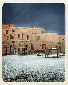 Taos Pueblo New Mexico Winter ddop41