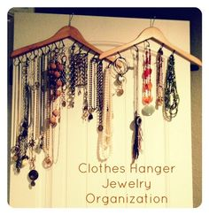 Household Organization Tips and Tricks for Need to Hide Items around the Home - DIY Jewelry Crafts Ideen Organizing Hacks, Household Organization, Jewelry Organization, Organising, Organization Ideas, Storage Ideas, Storage Solutions, Diy Clothes Hangers, Wooden Coat Hangers