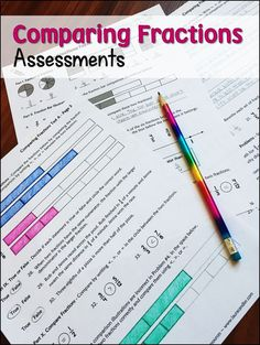 Comparing Fractions Assessments from Laura Candler includes a collection of quick checks and multi-page tests to assess understand of equivalent fractions, comparing fractions, and ordering fractions. $
