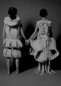 Sculptural Fashion - dress designs using experimental techniques to create…
