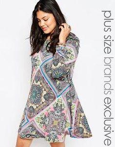 b3a888327fe Alice   You Scarf Print Swing Dress Plus Size Fashion For Women