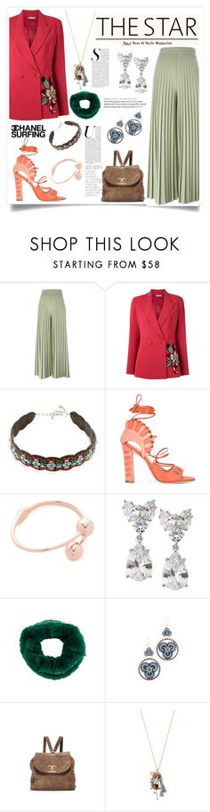 """""""Pallazoooo"""" by justinallison ❤ liked on Polyvore featuring Givenchy, Martha Medeiros, Rebecca Minkoff, Paula Cademartori, Kate Spade, Fantasia by DeSerio, Yves Salomon, Miguel Ases and Chan Luu"""