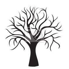 """Stickers """"skittish, defoliated, design - black tree without leaves"""" ✓ Wide Selection of Materials ✓ Customizable Products ✓ Check Out the Reviews!"""