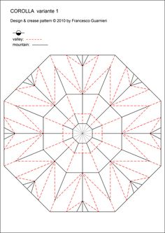 Corolla Variazione 1 Crease Pattern
