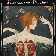 Painting study of the cover for Florence Welch (Florence and the Machine)'s album 'Lungs'.