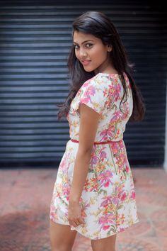 Floral Short Dress Summer Here