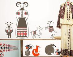 wall stickers Cai verzi pe pereti - late cotton Romanian dress The Met Nature Symbols, Protection Symbols, Secret Language, Traditional Paint, Easter Traditions, Floral Motif, Geometric Shapes, Romania, Pagan
