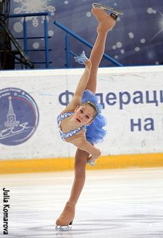 Julia Lipnitskaya -Blue Figure Skating / Ice Skating dress inspiration for Sk8 Gr8 Designs.