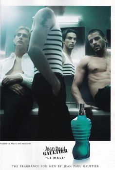 """""""Le Male"""", Jean Paul Gaultier. Best cologne EVER. Need to buy the hubby this :)"""