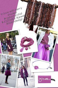 In Love with berry shades!  #fashionlovers love #radiantorchid #rakhi #bracelets handemade silk wrapbracelet desigend by Jozemiek (dutchdesign)