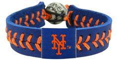 New York Mets Baseball Bracelet - Team Color Style