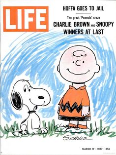 "March 17, 1967, ""Life"" magazine cover featuring Charlie Brown and Snoopy from ""Peanuts,"" by Charles Schulz (1922-2000)."