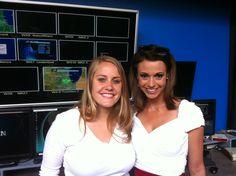 Lauren and Cheryl Scott. NBC5 weathergirl June 2012