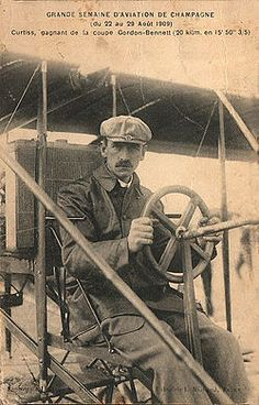 Glenn Hammond Curtiss (May 21, 1878 – July 23, 1930) was an American aviation pioneer and a founder of the U.S. aircraft industry. He began his career as a bicycle then motorcycle builder and racer, later also manufacturing engines for airships as early as 1906. In 1908 Curtiss joined the Aerial Experiment Association (AEA), a pioneering research group founded by Alexander Graham Bell at Beinn Bhreagh, Nova Scotia to build flying machines.