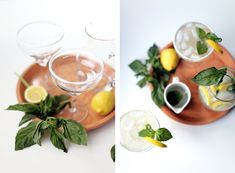 basil infused tequila lemonade, perfect for summer entertaining via Lauren Kelp Tequila And Lemonade, Tequila Tasting, Cocktail Drinks, Cocktails, Wine Chiller, Agave Nectar, Throw A Party, I Want To Eat, Yummy Drinks