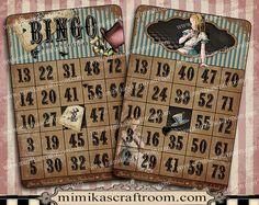 BINGO Alice in Wonderland digital 4x6 alice by mimikascraftroom