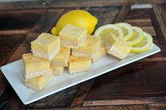 Lemon bars - substitute coconut sugar for sweetener in filling. No sweetener in crust