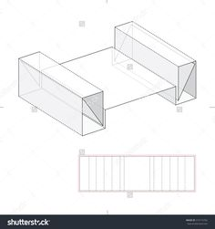 Package Design Parts With Die Line Template Stock Vector Illustration 319115762 : Shutterstock