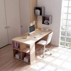"""#Arredamento #Cameretta Moretti Compact: Collezione 2012 """"Team"""" > Kids >> kc25 #armadio #scrivania #mensole http://www.moretticompact.it/kids.htm"""
