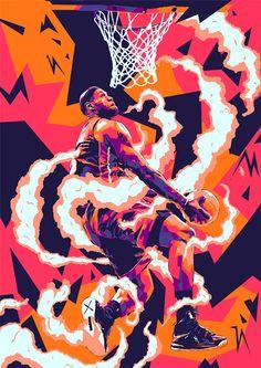 Random Illustration Collection 7 on Behance King Lebron, Lebron James, Nba Wallpapers, Basketball Art, Sports Graphics, Shirt Print Design, Sports Art, Cultura Pop, Graphic Design Illustration