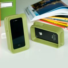 Green Chunky iPhone Stands - complete with speaker and mic opening at the bottom....comes in cool colors!
