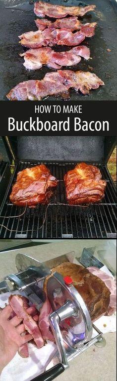 What's buckboard bacon? Buckboard bacon is bacon made from pork shoulder instead of pork belly.