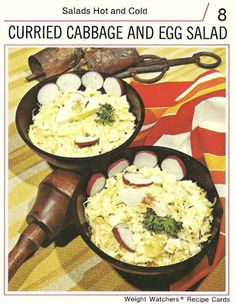 Curried Cabbage and Egg Salad (Weight Watchers Recipe Cards, 1974)